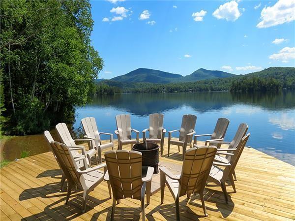 DI-17016: Magnifique bord de l'eau au Lac Supérieur. La plus belle vue de tout le lac. Le seul chalet en bois rond classé 5 étoiles par la CITQ et le cinquième au  ...