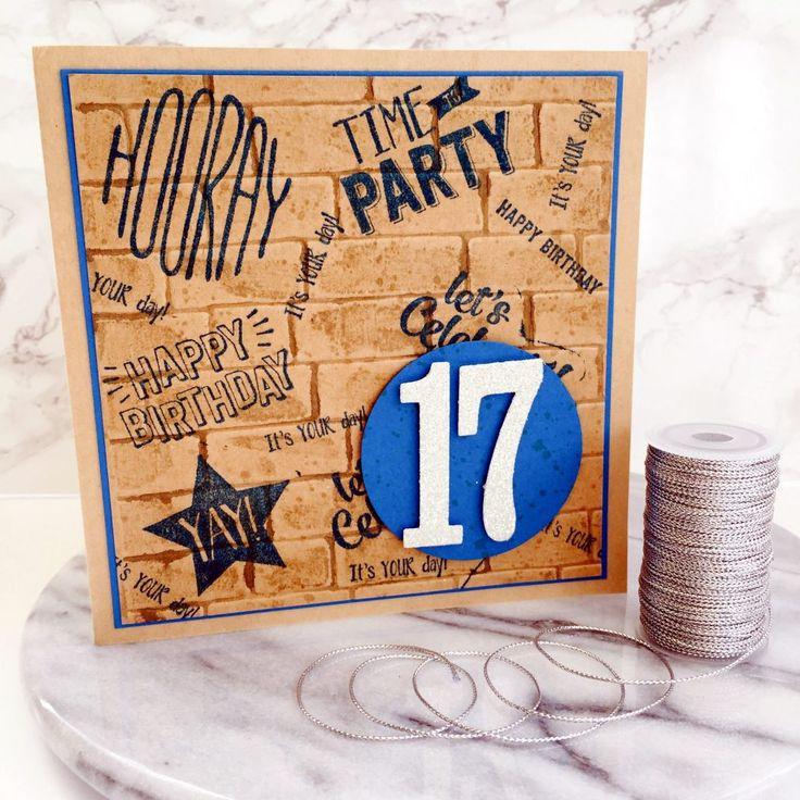 Stampin Up Teenage birthday card