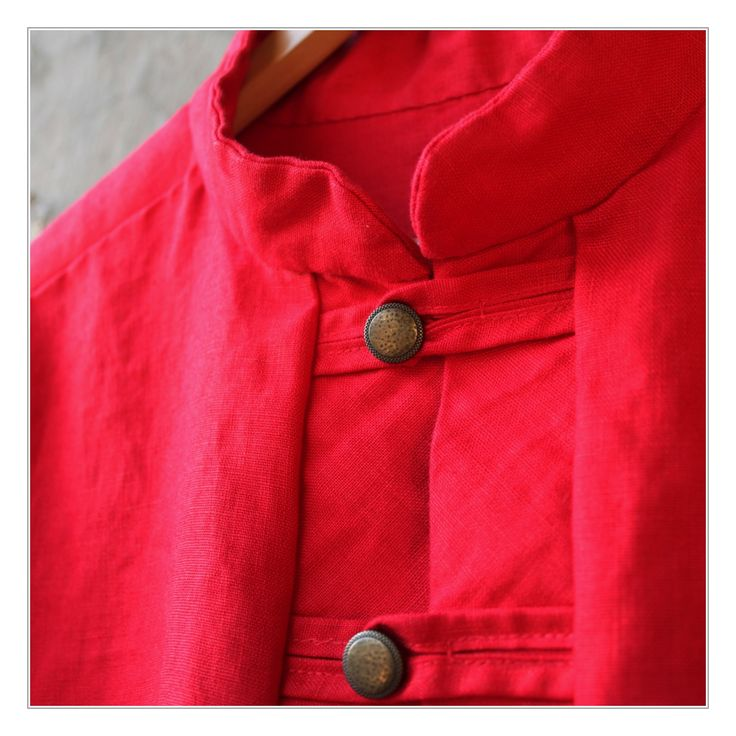 linen red shirt I  love this colour