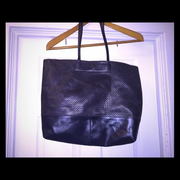 Banana Republic Navy Leather Tote Bag Navy blue Leather Tote bag from Banana Republic. Banana Republic Bags Totes
