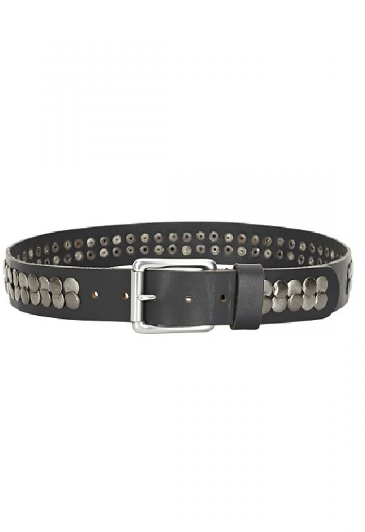 Denim Hunter Arizona Rivet Belt Black Deep - Accessories - MaMilla