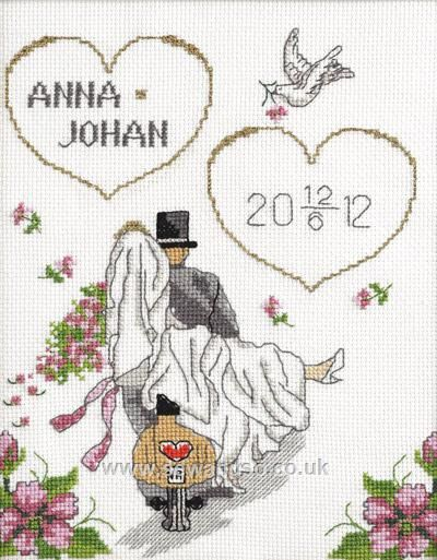 Anna and Johan Wedding Sampler - Sew and So - Anchor