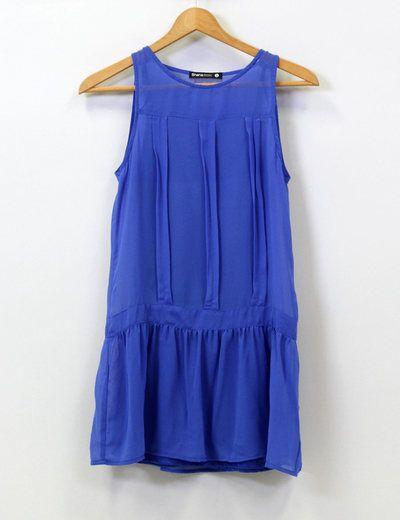 Vestido azul klein Shana
