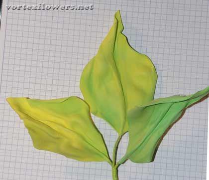 Способ скручивания лепестков и листьев из фоамирана через эластичную ткань. Как сделать изящные листья из фома без молдов | Vortex Flowers