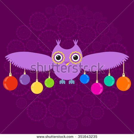 illustration of owl vector - stock vector