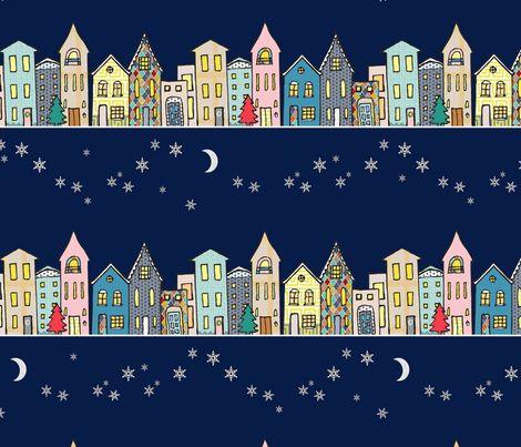Happy Row (December) fabric by mariden on Spoonflower - custom fabric