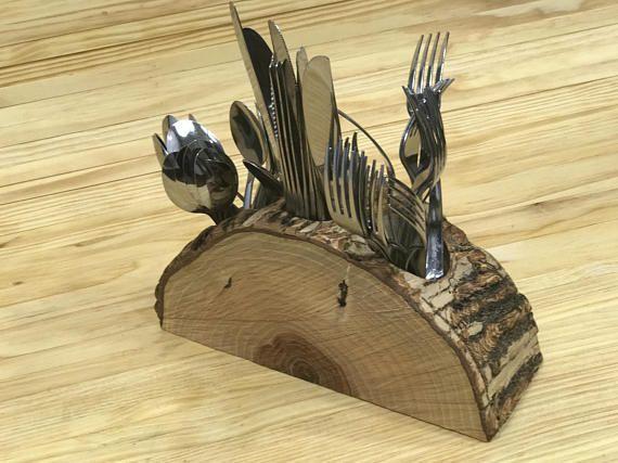 Best 25 silverware holder ideas on pinterest - Unique kitchen utensil holder ...