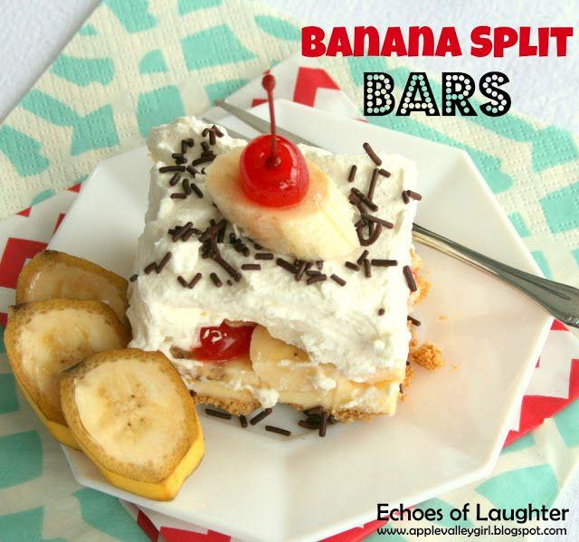 Echoes of Laughter: Banana Split Bars