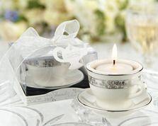 """Teacups and Tealights Miniature Porcelain Tealight Holders"""