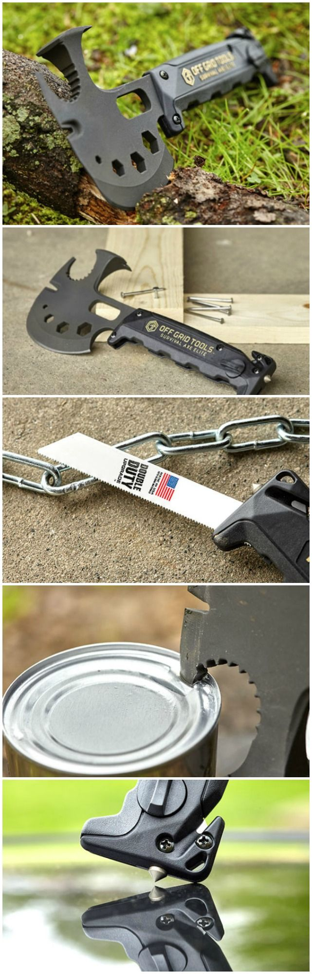 The Off-Grid Survival Axe. If the Zombie Apocalypse happens tomorrow, this is your weapon of choice.