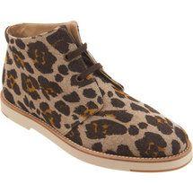 Leopard print desert boots by Stella McCartney