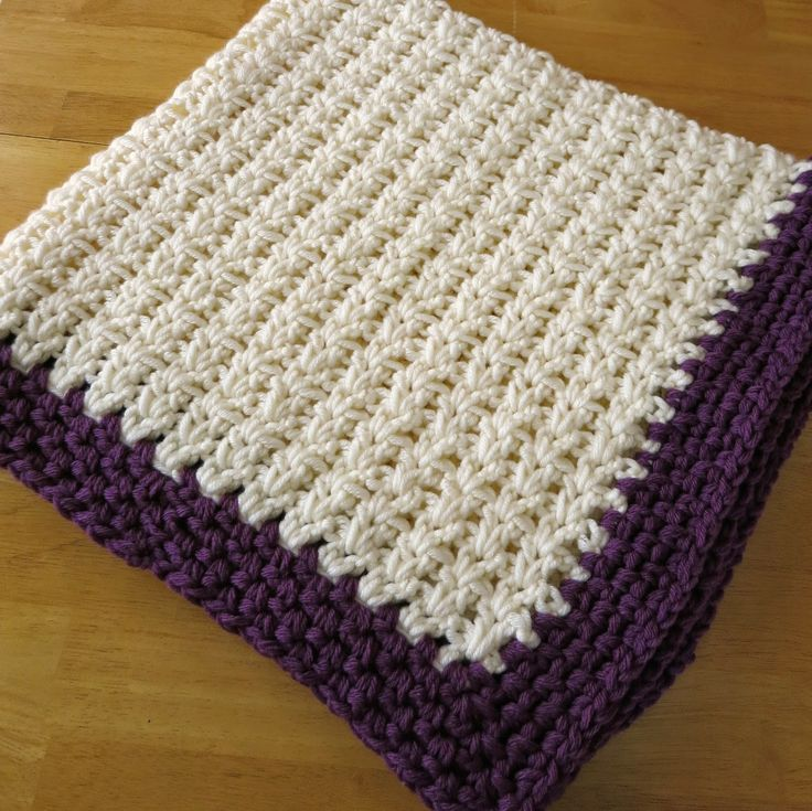 Lovely double Crochet V Baby Blanket, free pattern by Da's Crochet Connection