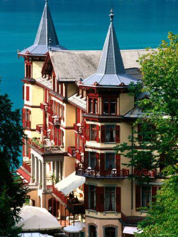 Grandhotel Giessbach and Lake Brienz, Brienz, Bern, Switzerland