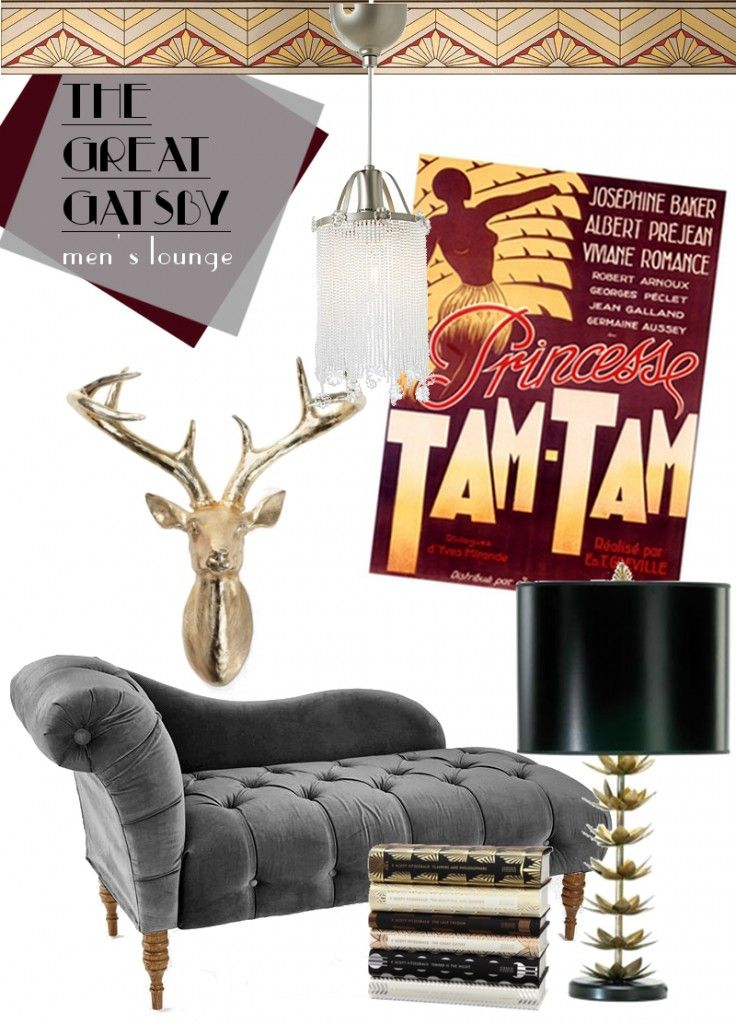 great gatsby decor for reading corner or lounge