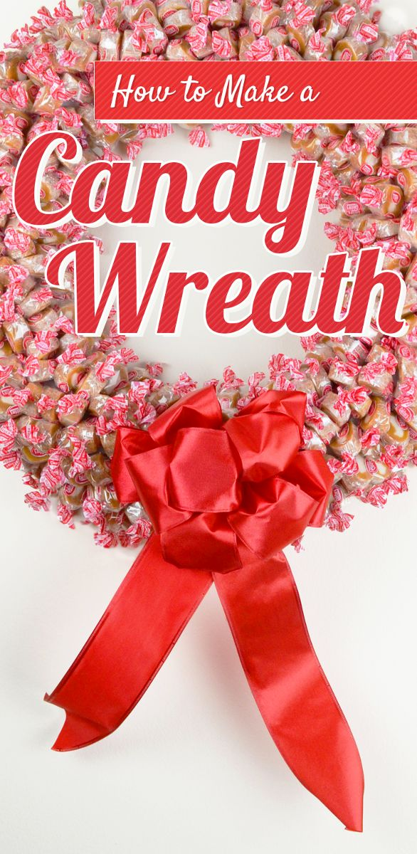 What a great idea! Make a red and white candy wreath for the holidays! My family LOVES Goetze's Caramel Creams and I had no idea that they're made here in Maryland!