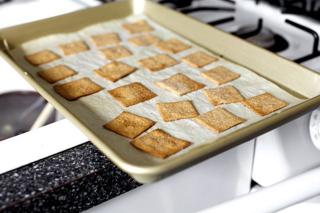 Homemade Wheat Thins via Smitten Kitchen. My favorite cracker (or at ...