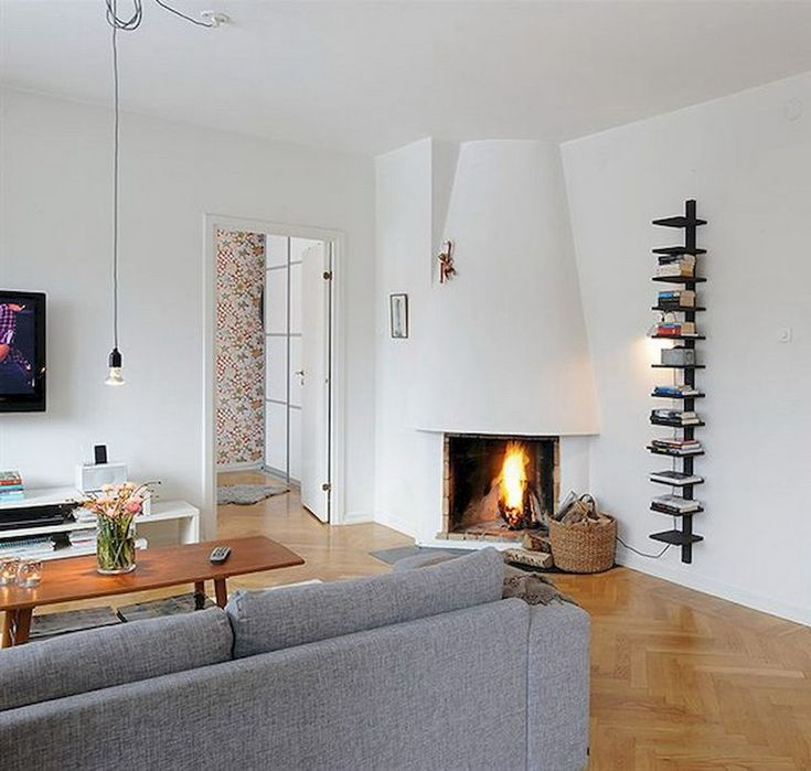 Small Living Room Decoration 6 Smart Ideas To Make It: 64+ Smart Scandinavian Fireplace Ideas Makeover For Your