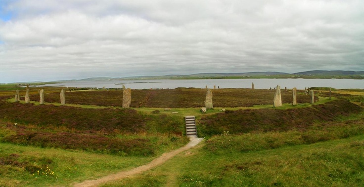 The Ring of Brodgar in Orkneys, UK