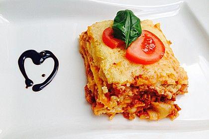 Lasagne, ein sehr schönes Rezept aus der Kategorie Italien. Bewertungen: 2.342. Durchschnitt: Ø 4,6.