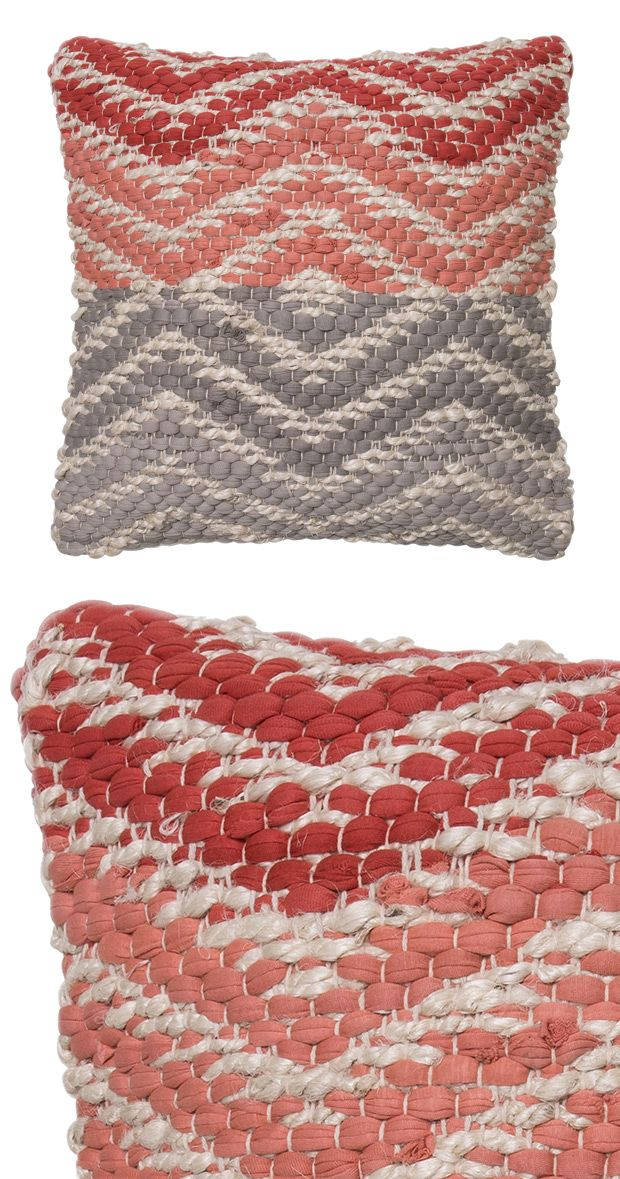 Beautifully woven, this cozy throw pillow will quickly become a beloved addition in your home. This Parallels Throw Pillow is crafted from cotton and jute and boasts a woven color-blocked diamond patte...  Find the Parallels Throw Pillow, as seen in the Mid-Century Modern Ski Trip Collection at http://dotandbo.com/collections/mid-century-modern-ski-trip?utm_source=pinterest&utm_medium=organic&db_sku=115903