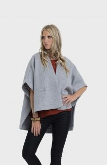 Elk Accessories Panelled Wool Cape Poncho