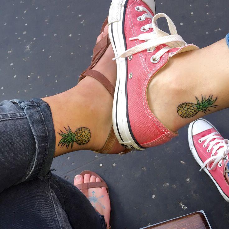 Best friend pineapple tattoos