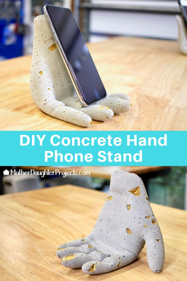 DIY Concrete Hand Phone Stand