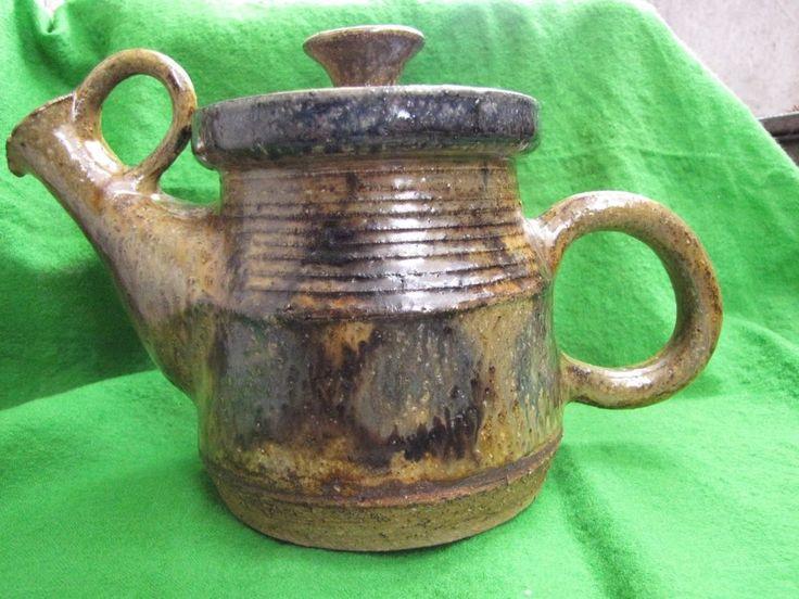 Antique Sweden hertha bengtson ceramic Teapot very rare Decor Collect design