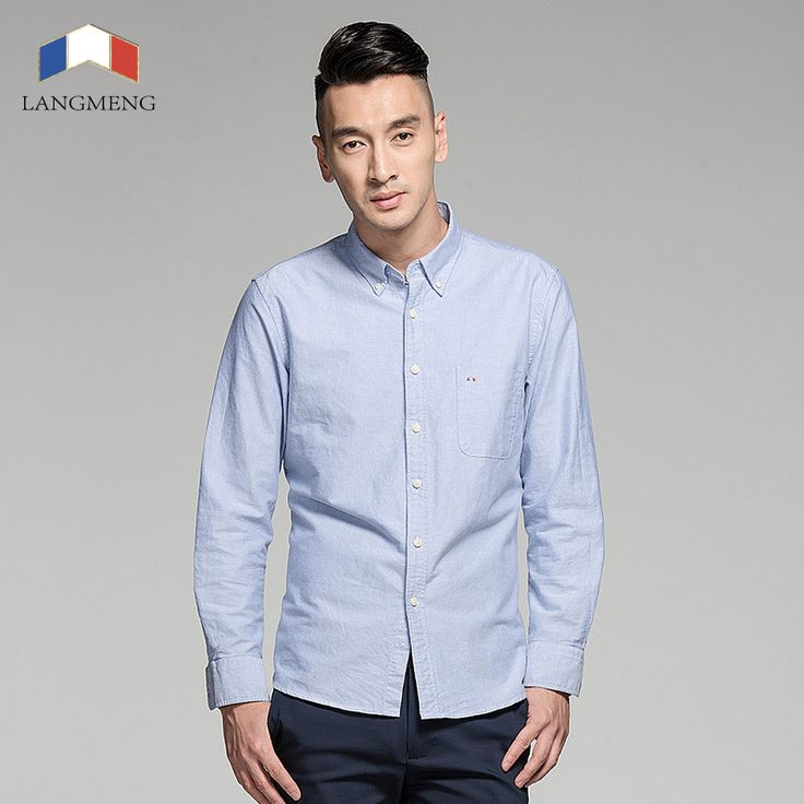 Langmeng plus size cotton brand striped shirt men long sleeve spring casual oxford dress camisa masculina | worth buying on AliExpress