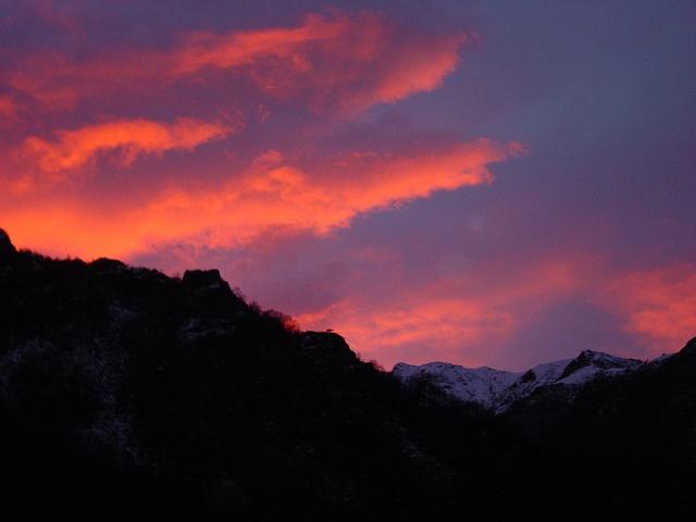 Red sunset. Bielmonte, Oasi Zegna #Italy www.oasizegna.com