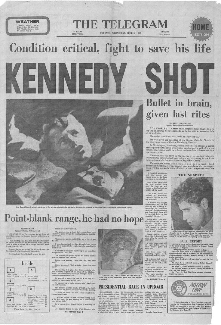Robert Kennedy assassination                                                                                                                                                                                 More