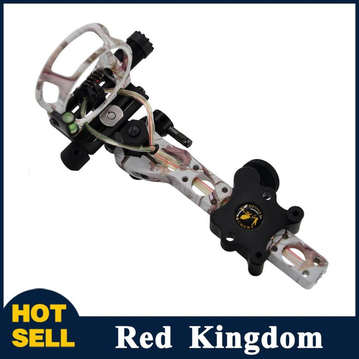 """Compound Bow Sight 5 Pins 0.019"""" with Micro Adjust Detachable Bracket TP7550-CAMO for Compound Bow Hunting Archery"""