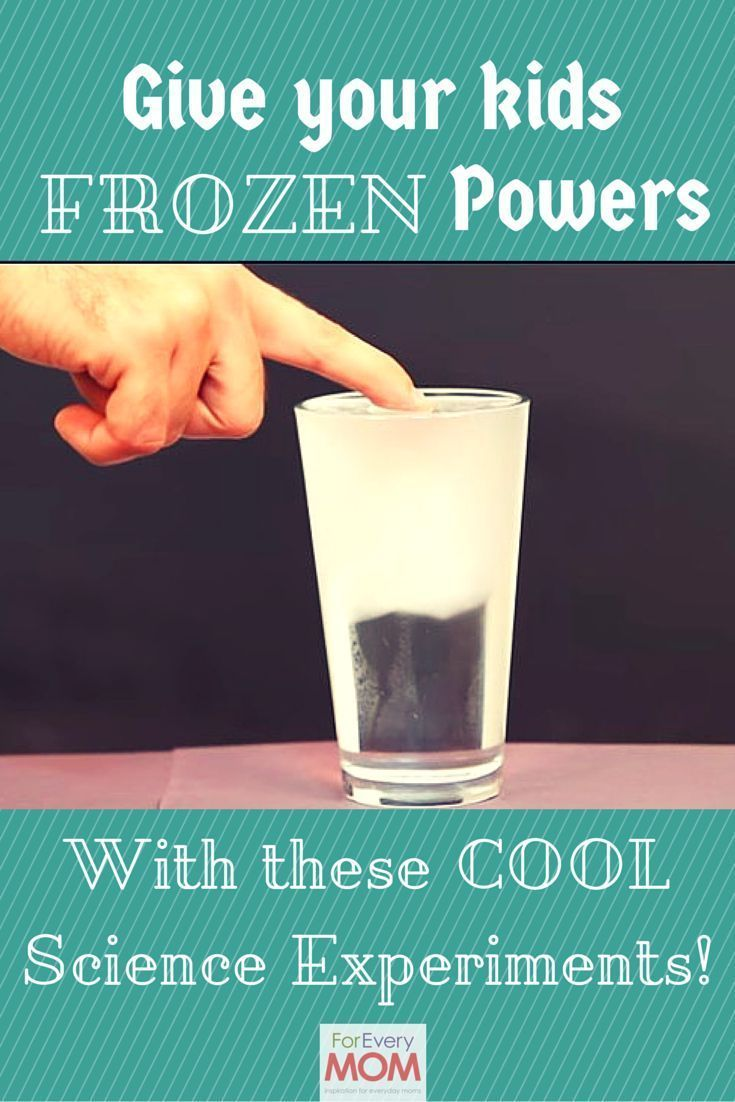 Give your kids Disney Frozen powers! Channel Queen Elsa's powers with these easy Frozen crafts turned science experiments! A great science less and so much fun!