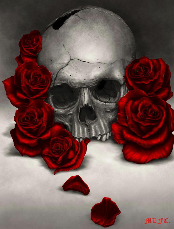 De 20+ bästa idéerna om Skull roses tattoo på Pinterest ...