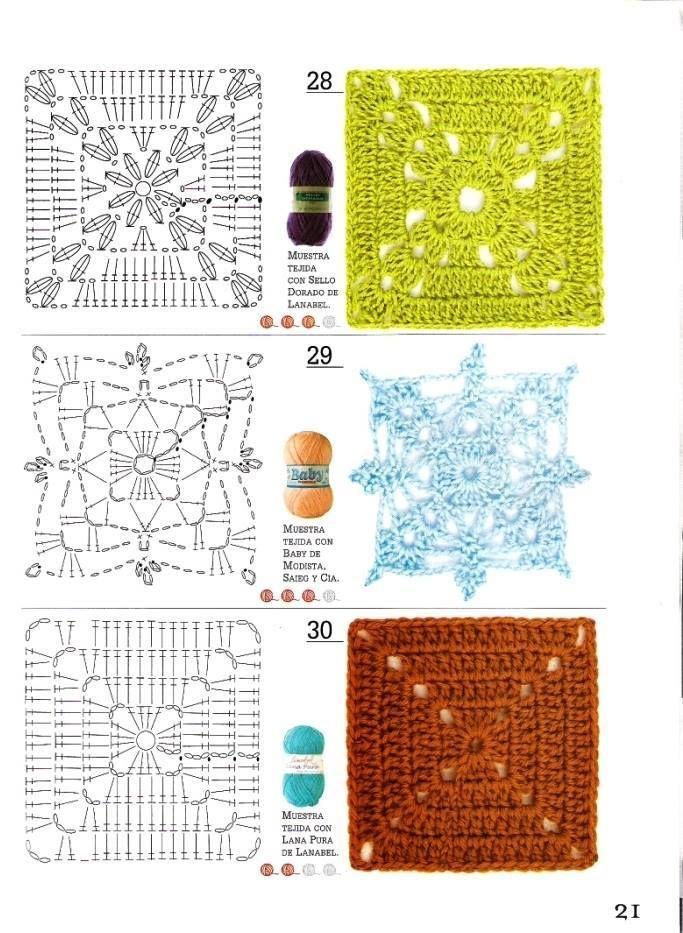45 best háčkované štvorce images on Pinterest   Omas häkelquadrate ...