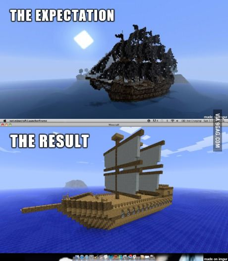 minecraft how to build a ship