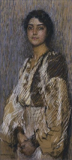 FLORENCE RODWAY (1881-1971) The Romanian Blouse (1912) A painting sold at Christie's in Melbourne, Victoria, Australia, in May 2004 for $7,794 Exhibited in Melbourne, National Gallery of Victoria, Loan Exhibition, 1925