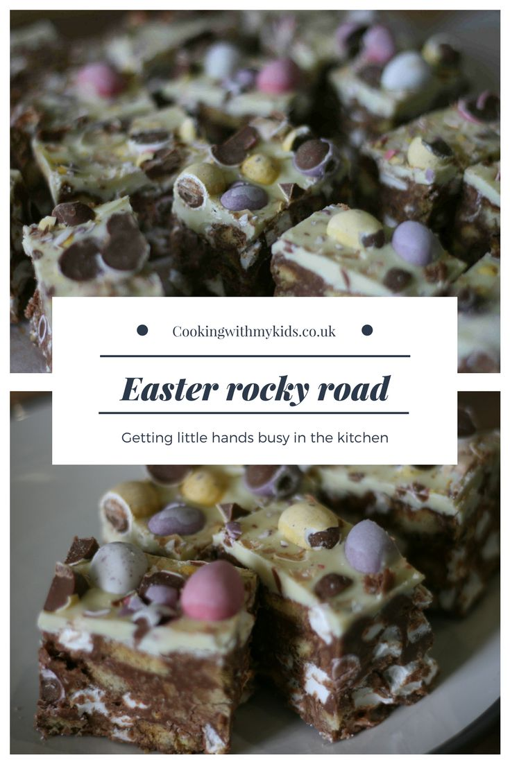 Easy to make delicious Easter rocky road #baking #nobake #chocolate #easter