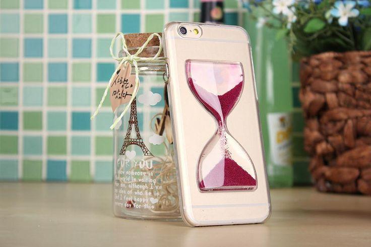 Чехол, где появилась время волшебный песочные часы сэнди часы жидкость жёсткая кристалл прозрачный прозрачный для Iphone 6 6 G 4 4S 5 5S