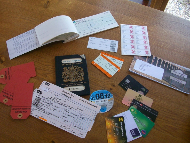 I save old train tickets, labels, store cards, car tax, passports, redundant cheque books, those labels with your address on you never know what to do with - all go to make up a post office for the grandchildren