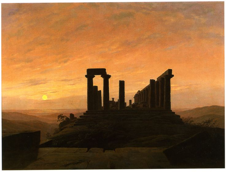 """Caspar David Friedrich """"Junotempel in Agrigent"""", um 1830"""
