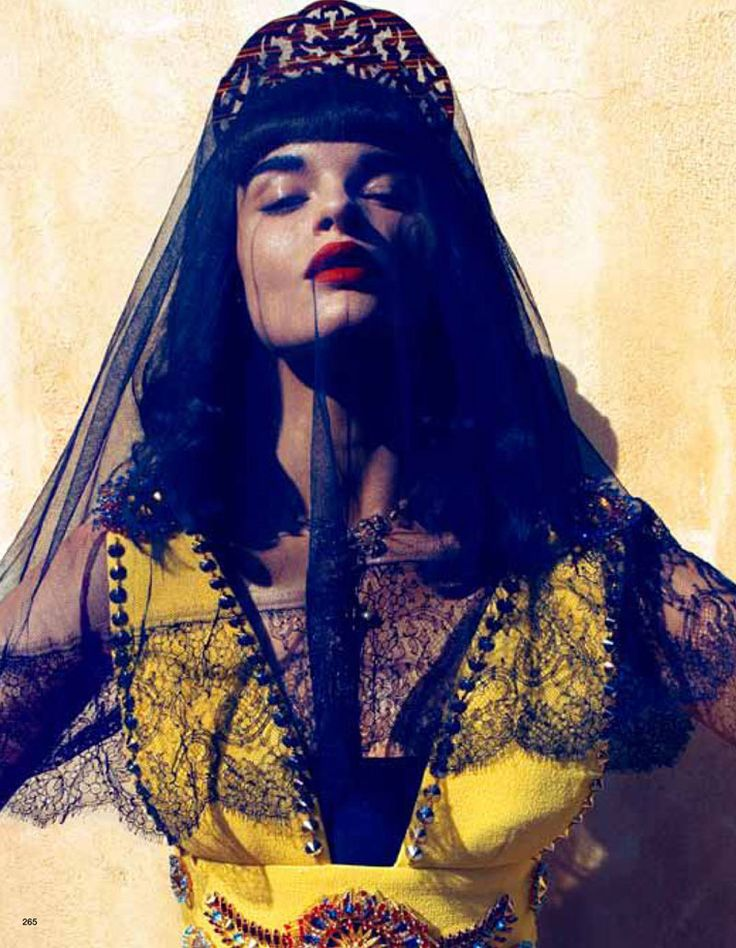 Give good brow, all the time.  Crystal Renn by Camilla Akrans for Vogue Japan June 2012