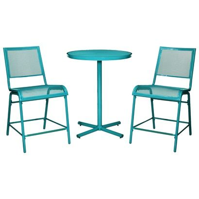 Room EssentialsTM LaSalle 3 Piece Mesh Patio Bistro Furniture Set Collection I Want This