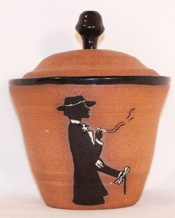 Smoking Lady Decanter by perrypotter on Etsy, $33.50