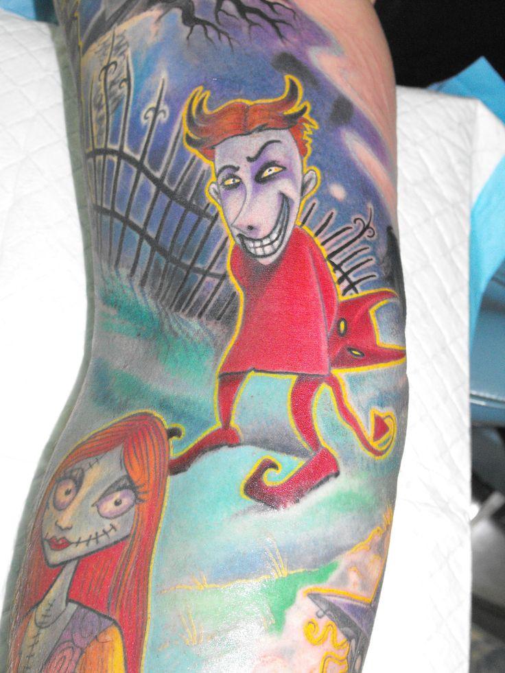 Nightmare Before Christmas Theme Tattooist: Daniel Brandt Electric Expressions Tattoo Studio Margate, QLD, Australia PH: (07) 38895966