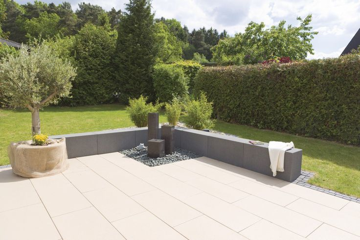 Gartenbank modern beton  Gartenbank / modern / Holz / aus Edelstahl RINNIT PLATINUM Rinn ...