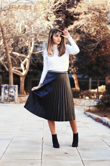Chic Outfit from Thenia (@pearlsandbrandy) with Missguided Tops, ROMWE Belts, Shoptiques Skirts, Kenzo Boots