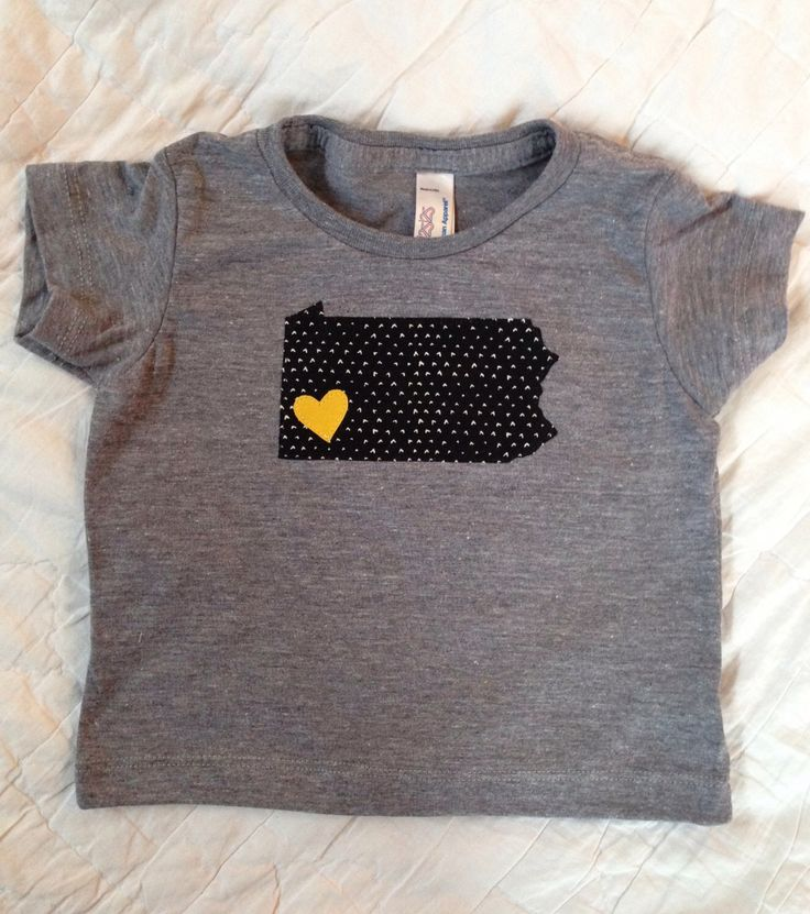 Pittsburgh Steelers Shirt for Kids, Pittsburgh Applique, Unisex Shirt, I Love Pittsburgh Shirt, Football Fan Shirt, Boutique Style, OOAK by crookedwhimsy on Etsy https://www.etsy.com/listing/223911069/pittsburgh-steelers-shirt-for-kids
