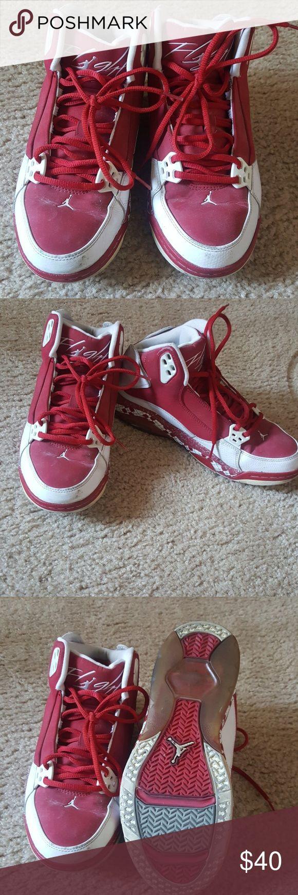 Jordan flight Normal wear has been stitting in closet collecting dust Jordan Shoes Sneakers