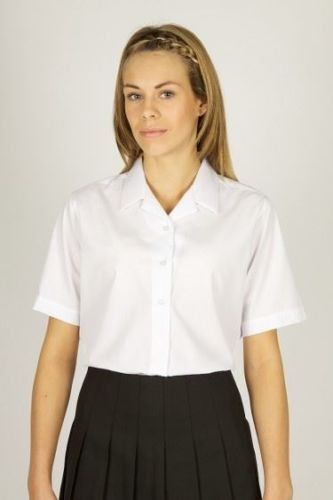 S/S Rever Collar Blouses - Twin Pack (7358)